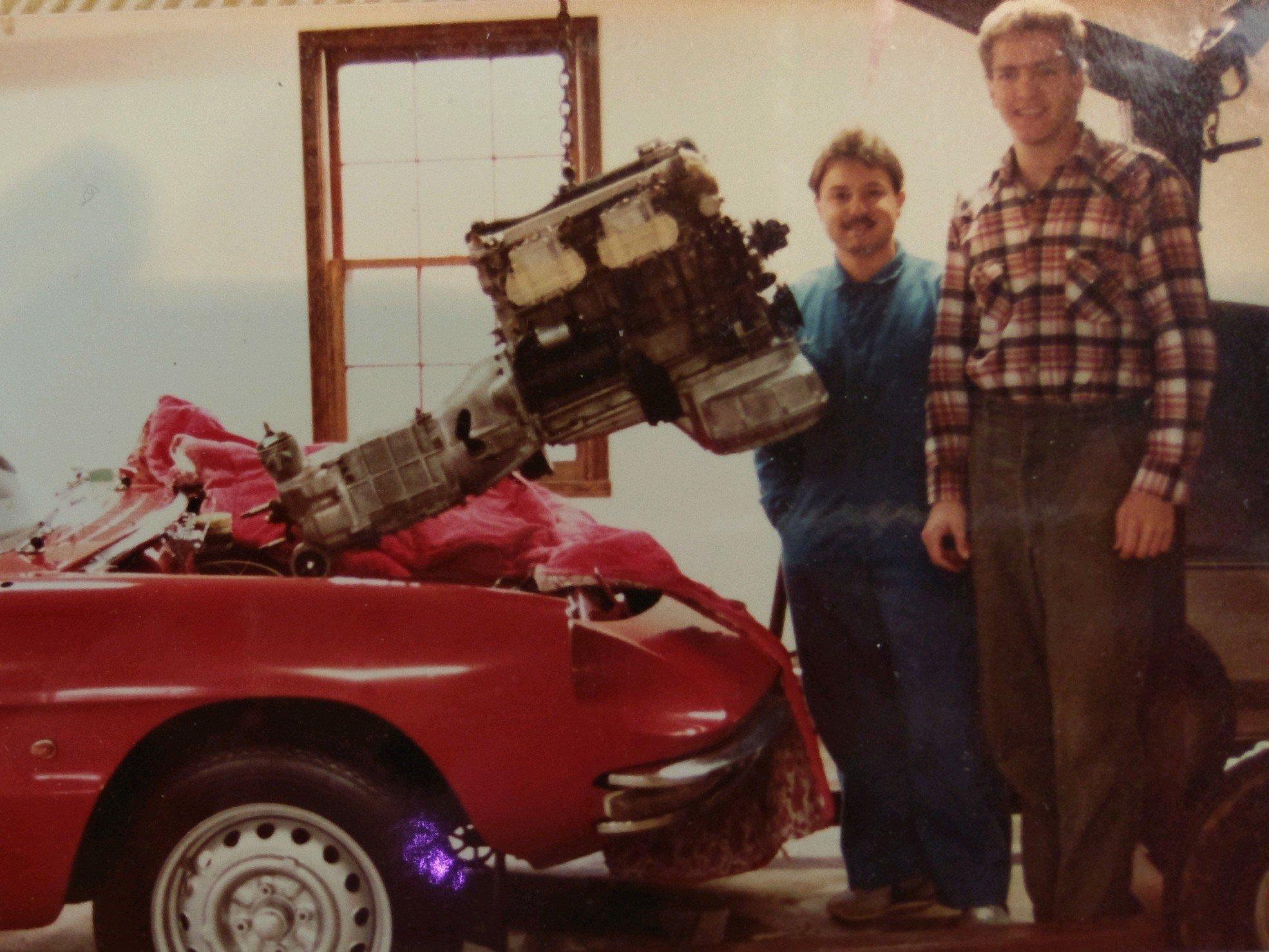 Name:  Alex and Mark 1984 engine install.jpg Views: 138 Size:  492.6 KB