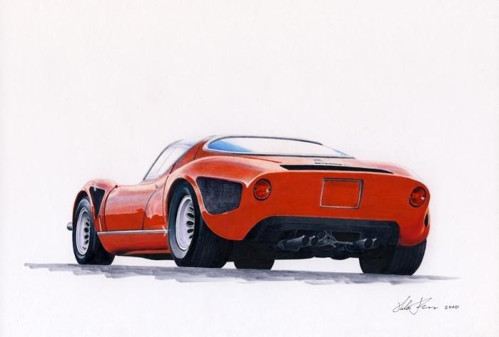 Alfa Romeo 33 Stradale Replica Alfa 33 stradale drawingAlfa Romeo 33 Stradale Replica