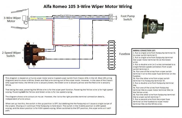 wire wiper motor wiring diagram on gm wiper motor diagram, wiper wiring  hi-low
