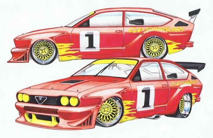 Name:  Alfa Romeo 116 GT GP Sportscars Sports Sedan Drawing.jpg Views: 10957 Size:  59.5 KB