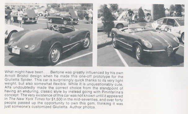 1955 Alfa Romeo Giulietta Spider. 1955 Giulietta Spider