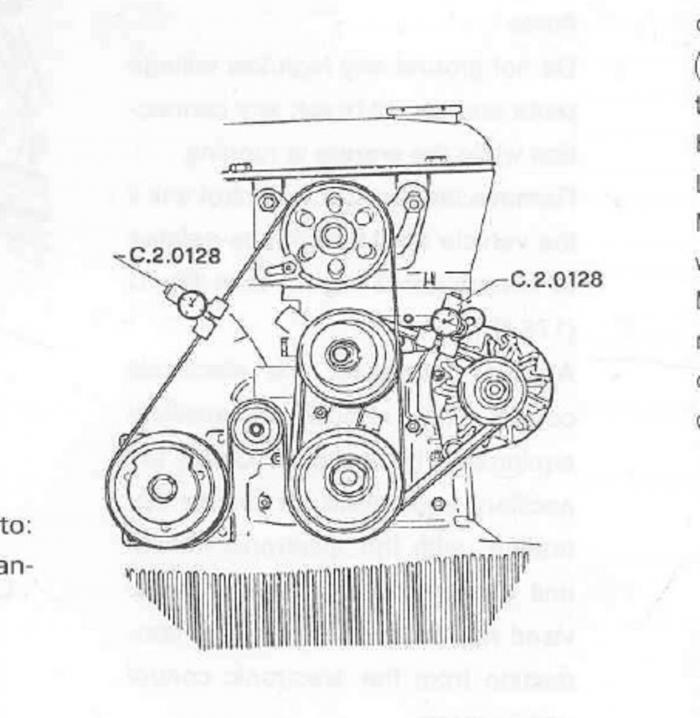ac  power steering serpentine belt -  u0026 39 91 s4
