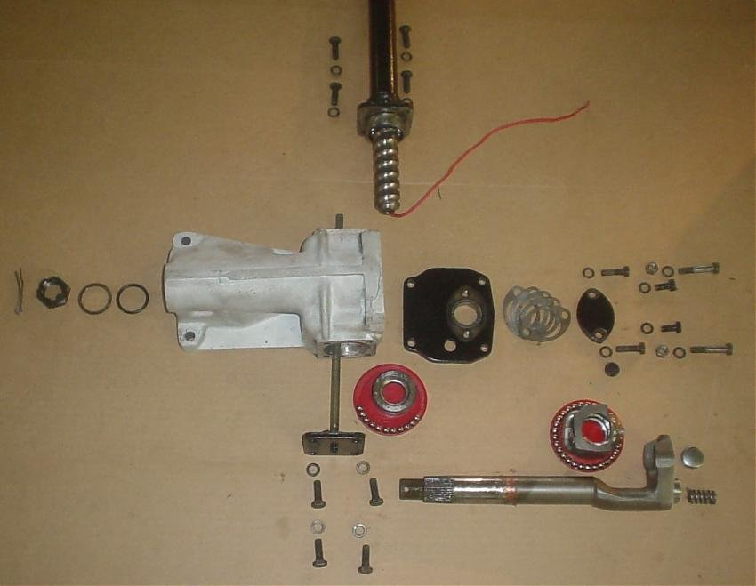D Burman Steering Box Rebuild Burman Gearbox Exploded View