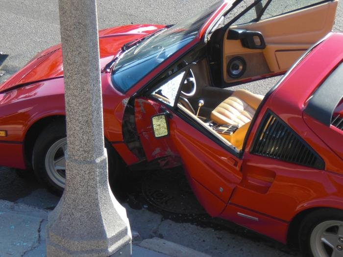 Ferrari 328 Engine. Ferrari 328 crash down my hill