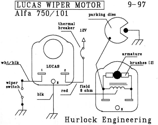 Lucas wiper motor Folly - Alfa Romeo Bulletin Board & Forums on