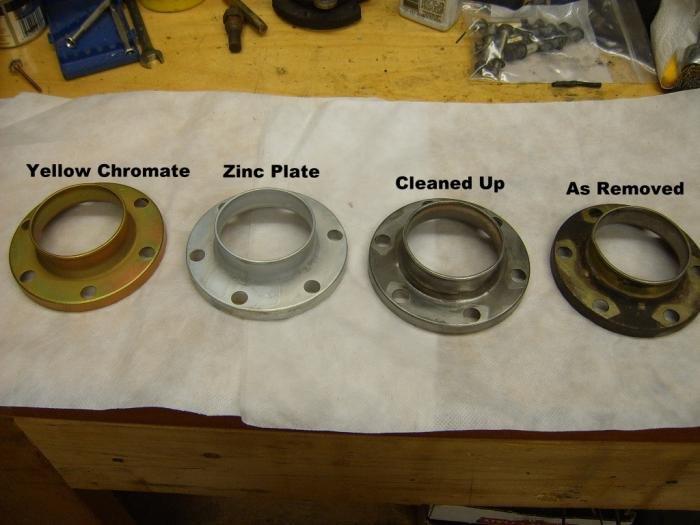 Yellow zinc dichromate plating