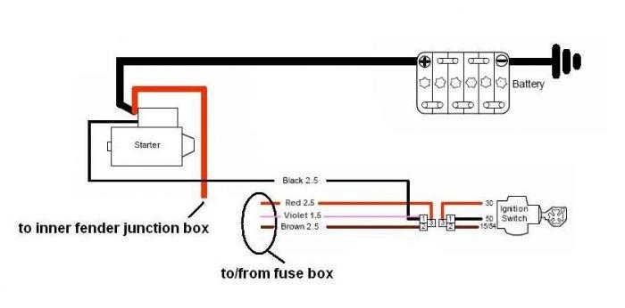 Starter Relay Wiring Question Alfa Romeo Bulletin Board Forums - Relay Wiring Starter