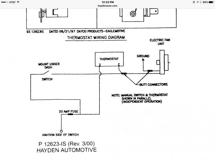 Electric Fan Thermostat Wiring Diagram - Wiring Diagrams on
