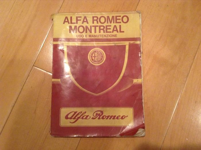 For Sale Alfa Romeo Montreal Owners Manual Alfa Romeo Forums