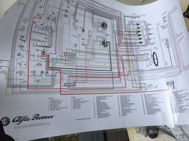 For Sale Montreal Wiring Diagram Poster - Alfa Romeo Bulletin Board ...