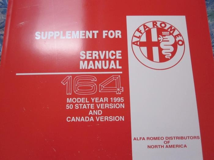 For Sale Alfa Romeo 164 Year 95 Service  U0026 Wiring Diagram