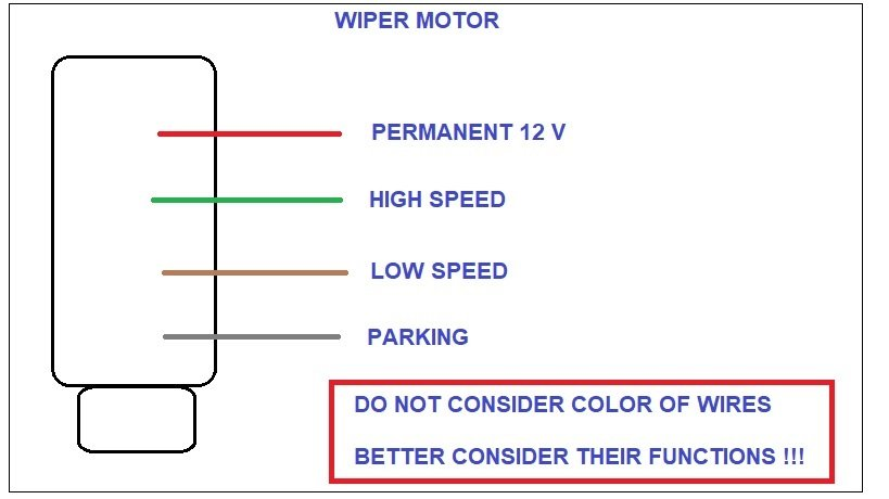Solved Wiper Motor Diagram 4 Wires With 5 Pins Switch Alfa Romeo Forums