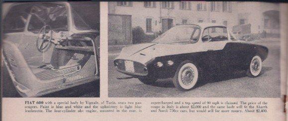 FIAT 600 Vignale / Nardi 750 ND / Abarth 750 Vignale