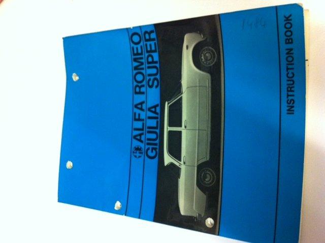 for sale alfa romeo giulia super biscione instruction book