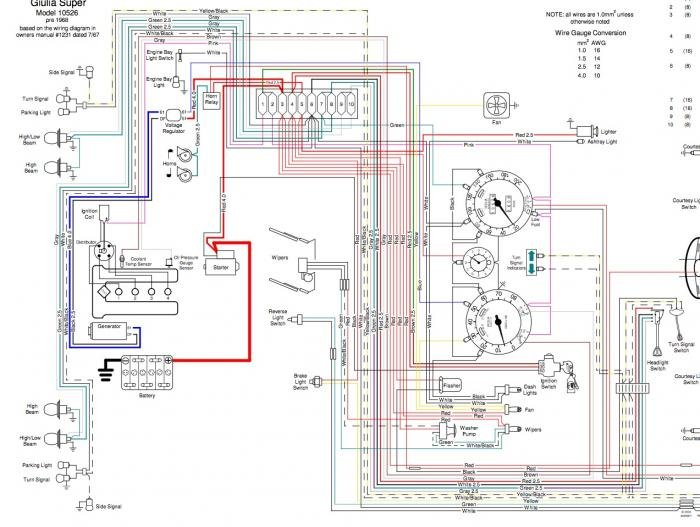 vw trike wiring diagrams generator vs alternator warning light wiring  alfa romeo forums  alternator warning light wiring