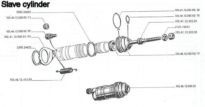 Ford Ranger Clutch Master Cylinder Diagram
