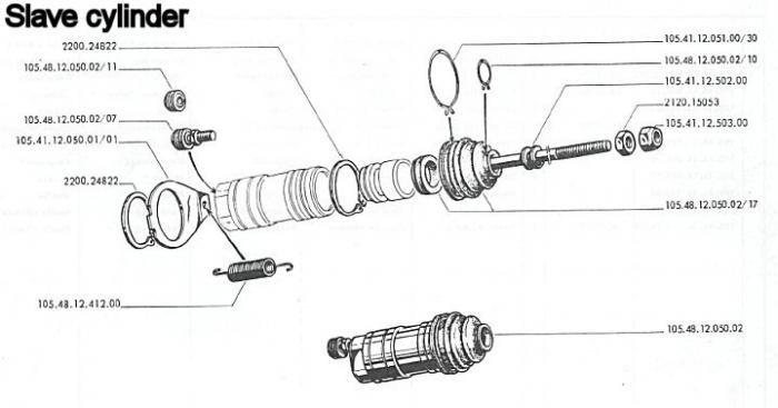brake slave cylinder diagram